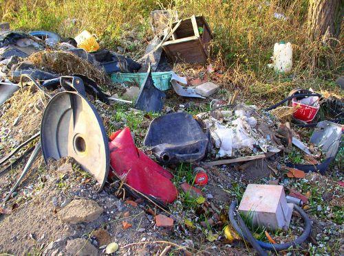 landfill waste mess