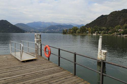 landing pier figino lake