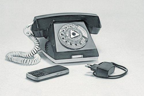 landline phone  link  vintage