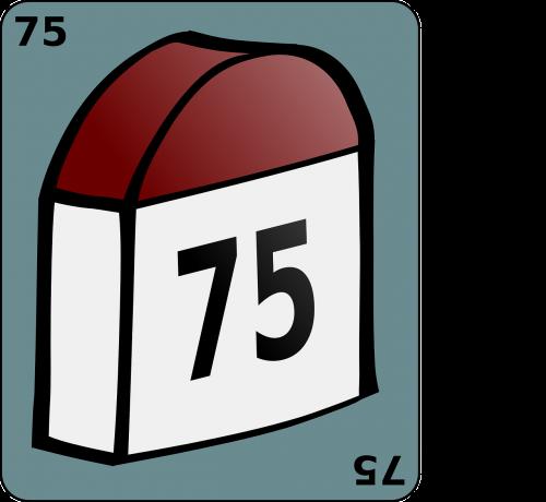 landmark milestone 75