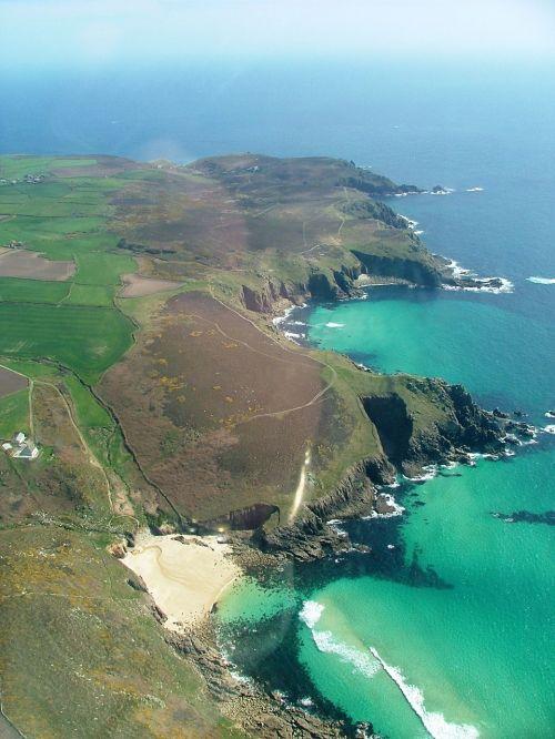 lands end sea coast
