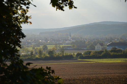 landscape village autumn