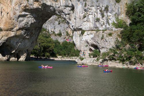 landscape ardèche river