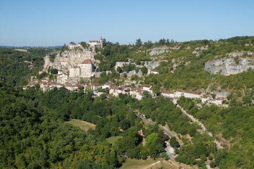 landscape rocamadour village