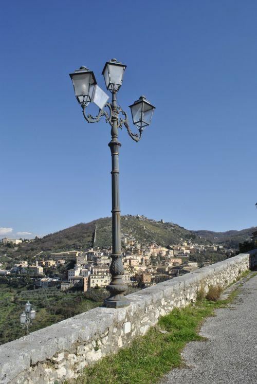 landscape road lamppost