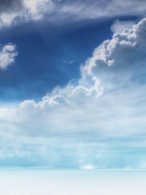 landscape clouds snow