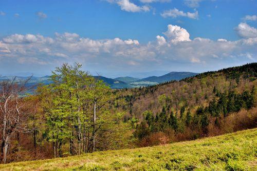 landscape beskids mountains