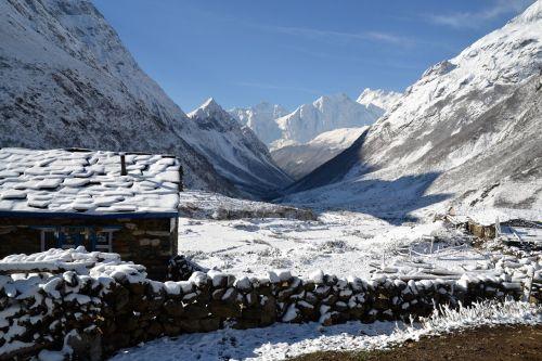 landscape snow nepal