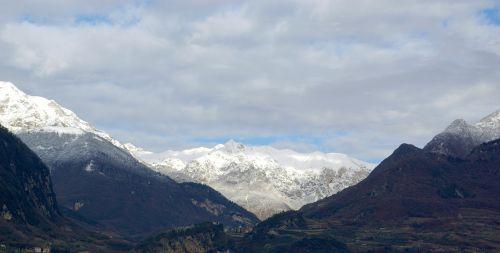 landscape mountains winter