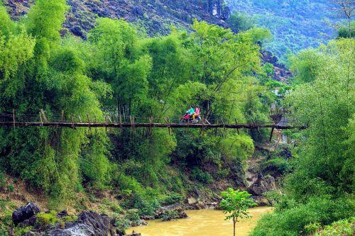 scenery suspension bridge tre