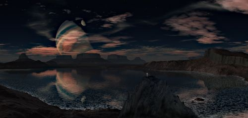 landscape planet sky