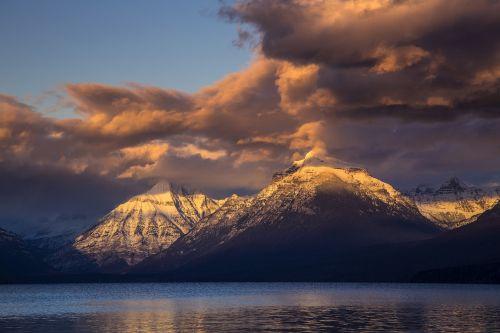 landscape sunset mountains
