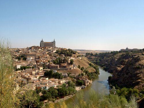kraštovaizdis,Europa,Ispanija,gamtos kraštovaizdis,upė,gamta,toledo,kelionė