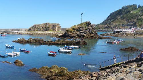 landscape port cudillero asturias
