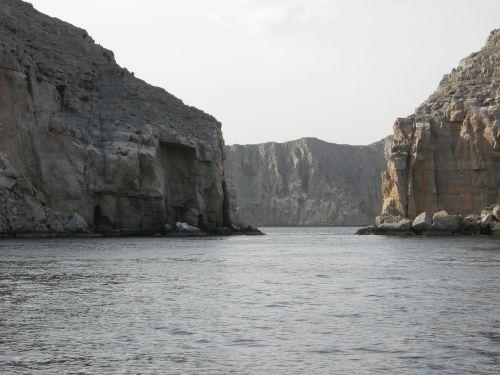 landscape oman sea