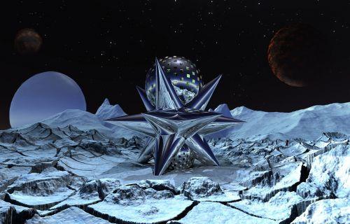 landscape space science fiction