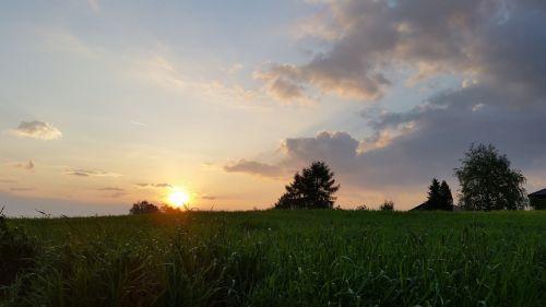 landscape poland sunset
