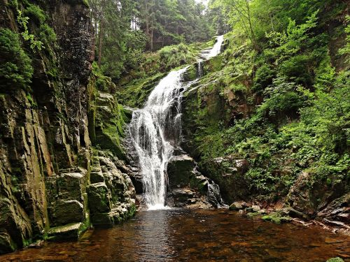 landscape waterfall brook