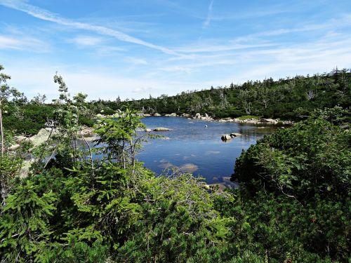 landscape mountains lake