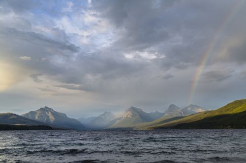 landscape rainbow lake mcdonald