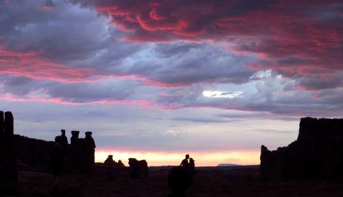 landscape scenic sunset
