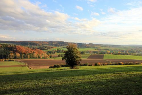 landscape autumn weser uplands