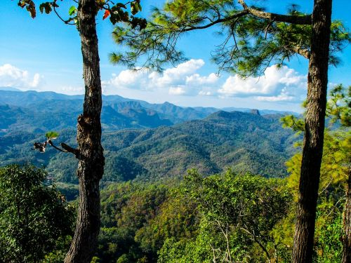 landscape mountains north thailand