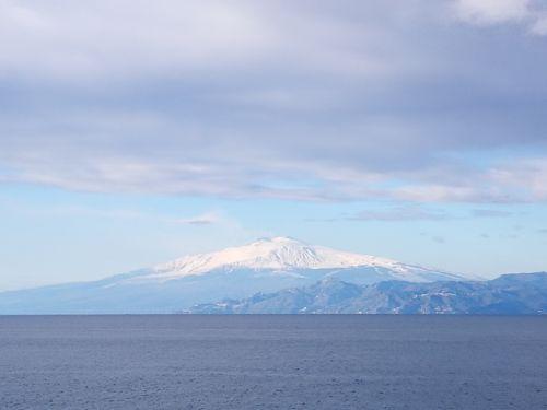 landscape sea etna