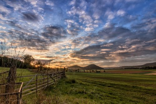 landscape wide angle sunset