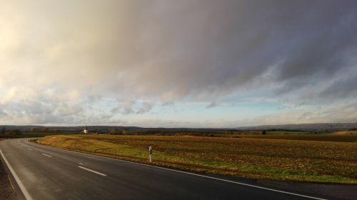 landscape sunshine upper franconia