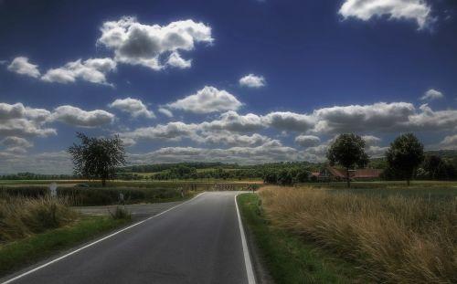 landscape road land