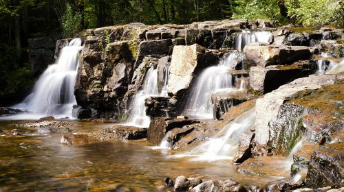 landscape waterfalls water courses
