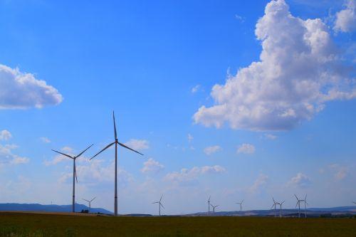 landscape pinwheel wind power