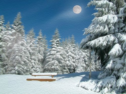 landscape mountain winters