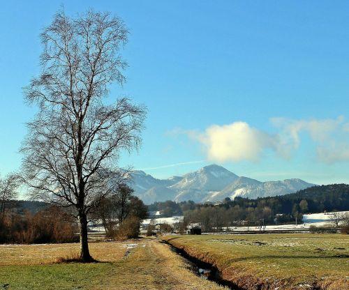 landscape chiemgau water running