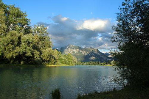 landscape nature lake forggensee