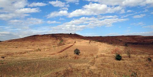 landscape hilly sky