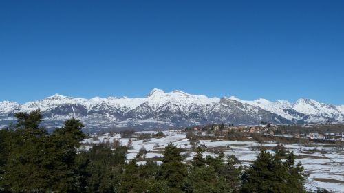 landscape mountain winter