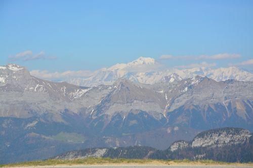 landscape mountains chain of mont blanc