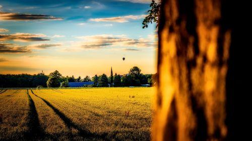 kraštovaizdis,karštas balionas,balionas,dangus,saulėlydis,spalva