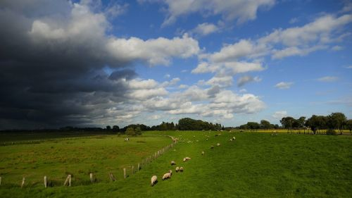 landscape storm clouds sky