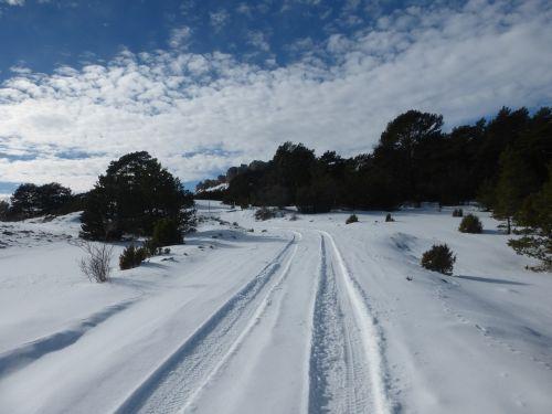 kraštovaizdis,sniegas,pėdsakai,kelias,važiuoklė,snieguotas kalnas,balta,snieguotas kraštovaizdis