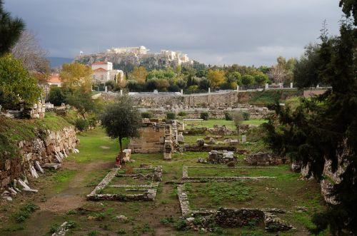 landscape parthenon citadel