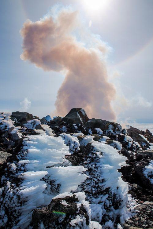landscape snow smoke