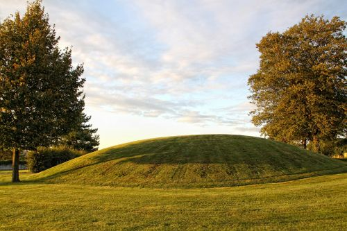landscape burial mounds trees