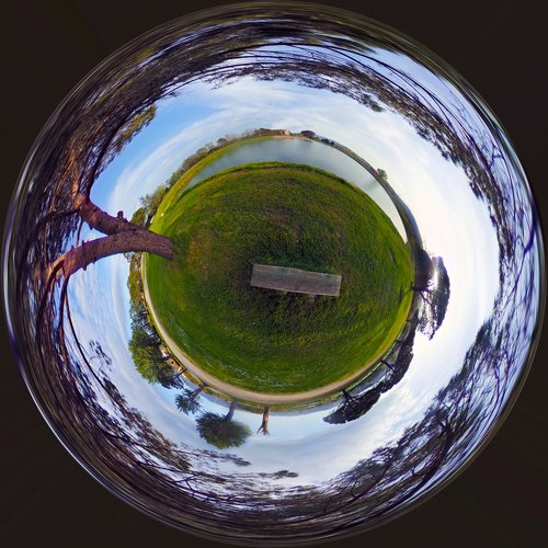 landscape  small planet  planet earth