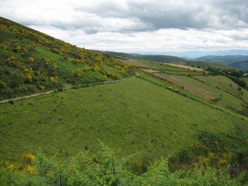 landscape galicia ascent