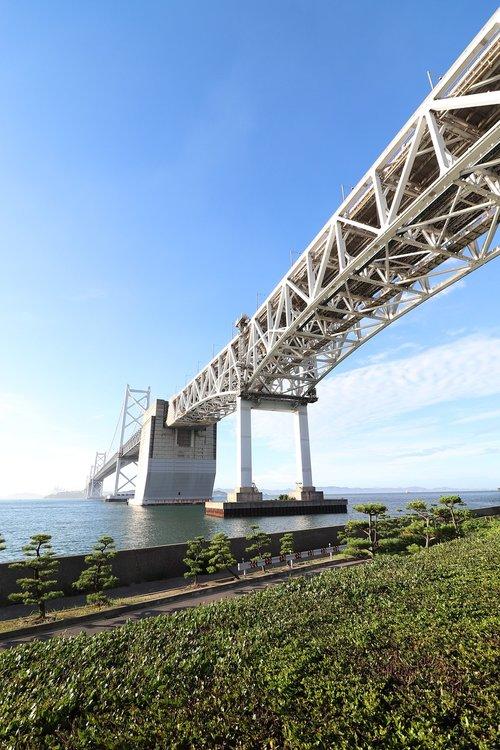 landscape  seto ohashi bridge  sea