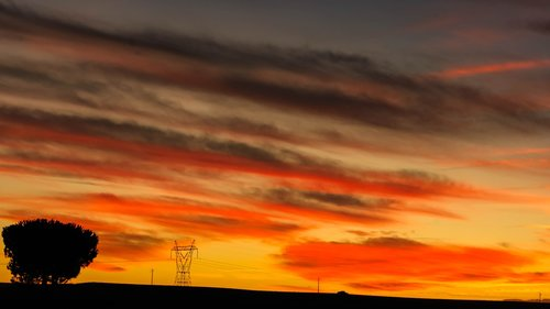 landscape  red skies  sunset