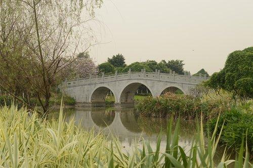 landscape  arch bridges  reflection
